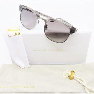 Linda Farrow Luxe LFL293/19 Grey Mist-White Gold